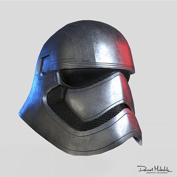 Phasma Helmet PBR Low Poly