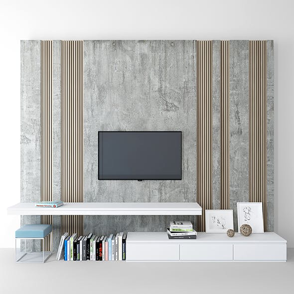 Tv wall_ set 01