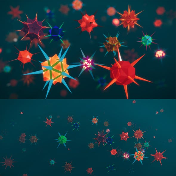 Low Poly Virus Pack 02
