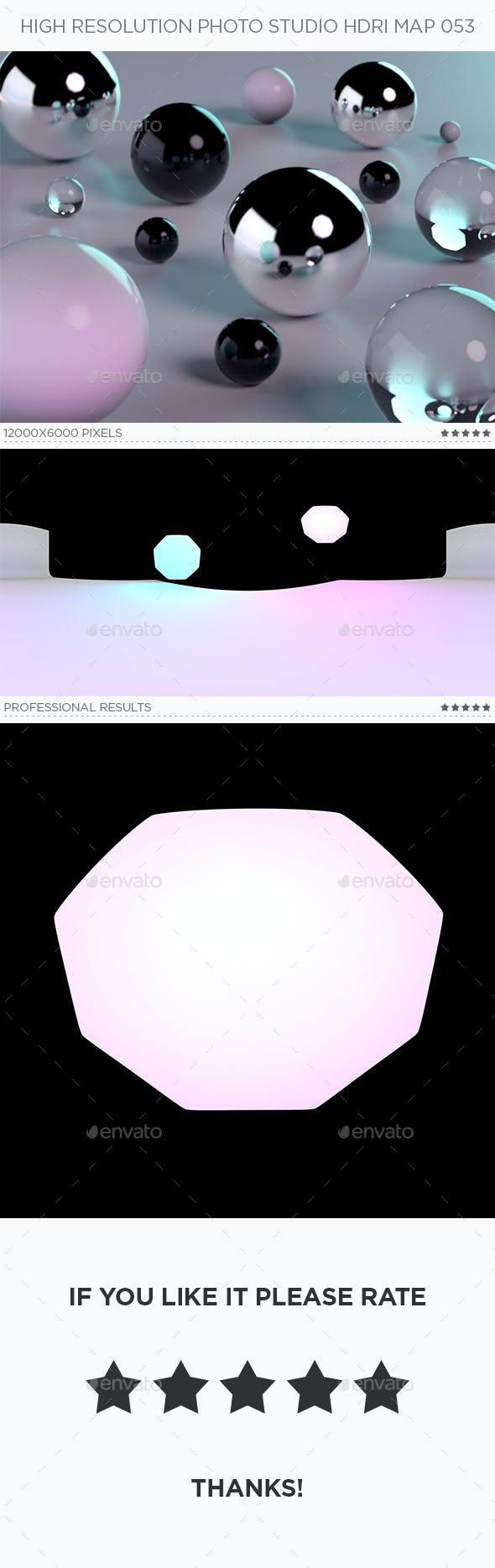 High Resolution Photo Studio HDRi Map 053 - 3DOcean Item for Sale