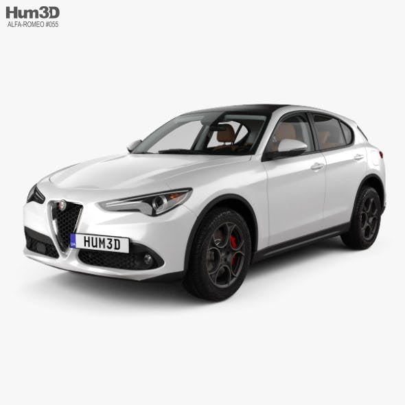 Alfa Romeo Stelvio Q4 with HQ interior 2017