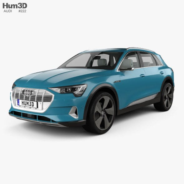 Audi e-tron with HQ interior 2019