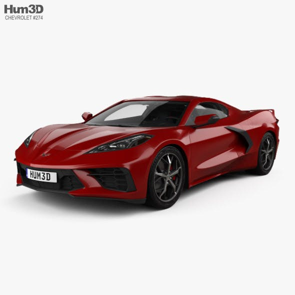 Chevrolet Corvette Stingray with HQ interior and Engine 2020