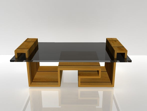 Low Poly Wooden Table - 3DOcean Item for Sale