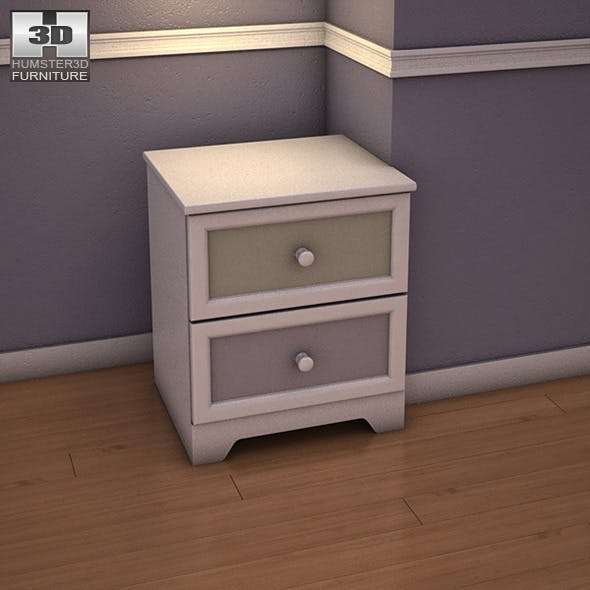 Ashley Sandhill Nightstand - 3DOcean Item for Sale