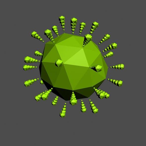 Coronavirus 05 Low Poly + Anim