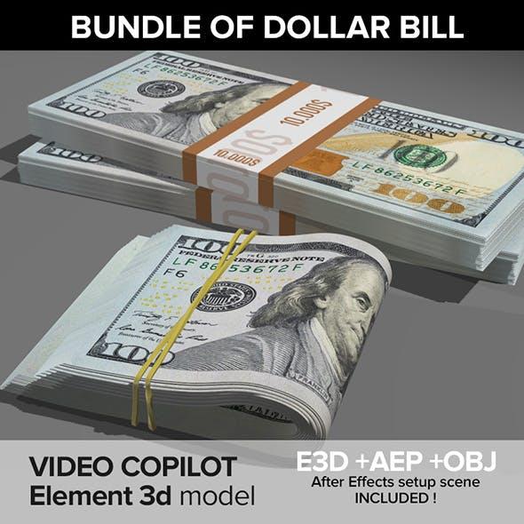 Bundle of dollar bill