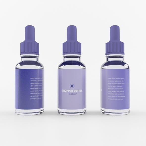 Transparent Dropper Bottle - 3DOcean Item for Sale