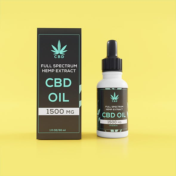 CBD dropper Bottle with Box