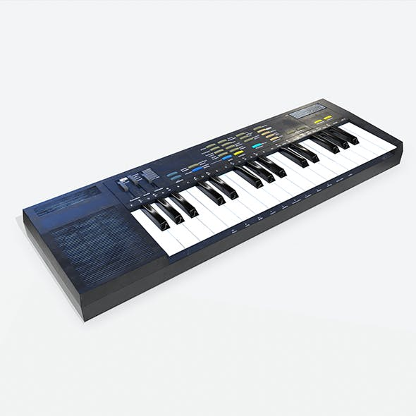 Synthesizer PBR Low Poly