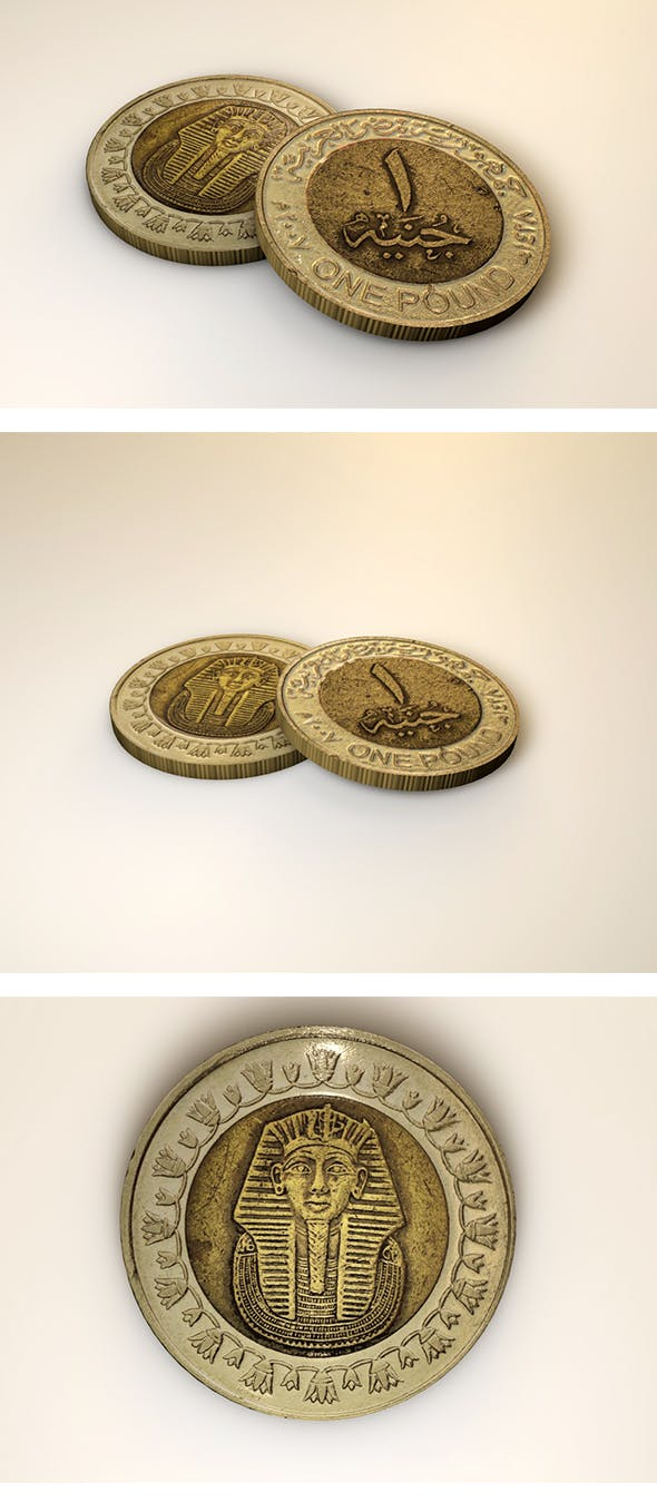 Egyptian Pound Coin - 3DOcean Item for Sale