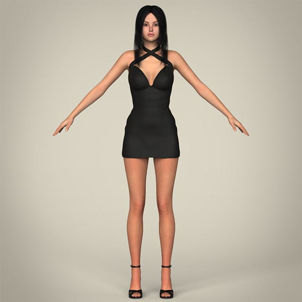 Realistic Sexy Teen Girl - 3DOcean Item for Sale