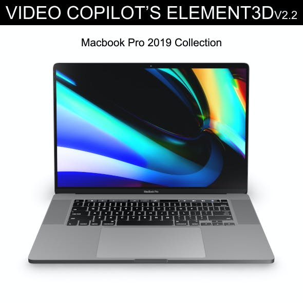 Element3D - Macbook Pro 2019 Collection