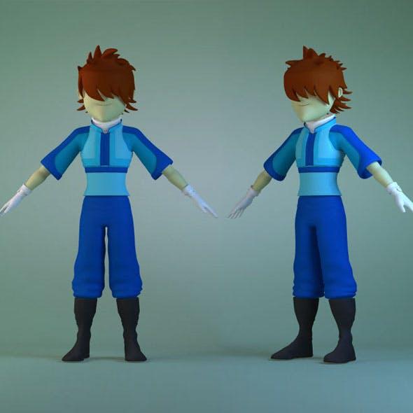 Boy cartoon character man student