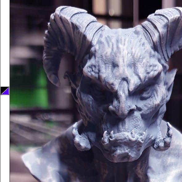 Orc Bust 3D Print Ready