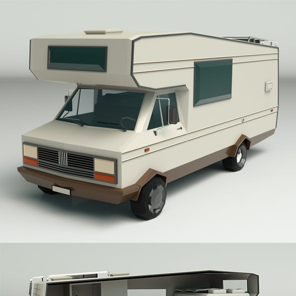 Low Poly Motorhome 01