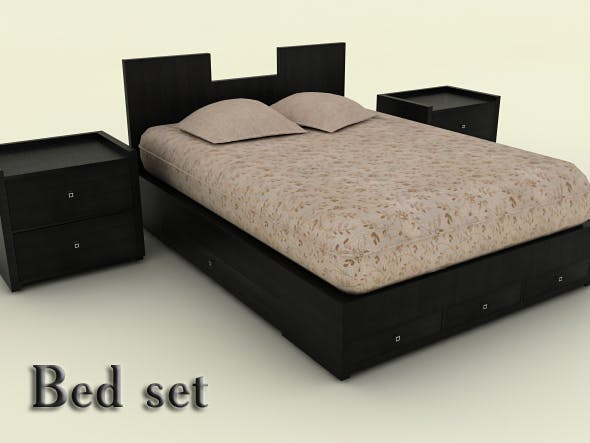 Bed set - 3DOcean Item for Sale