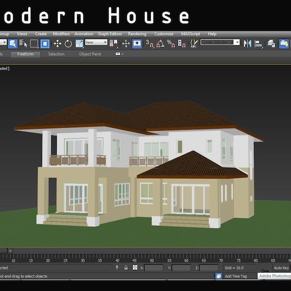 Contemporary Modern House.