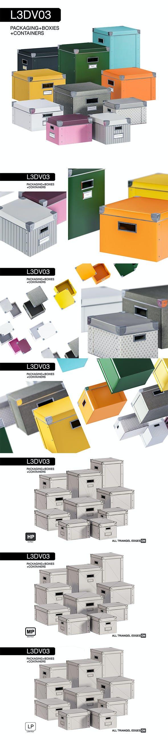 L3DV03G01 - boxes set - 3DOcean Item for Sale