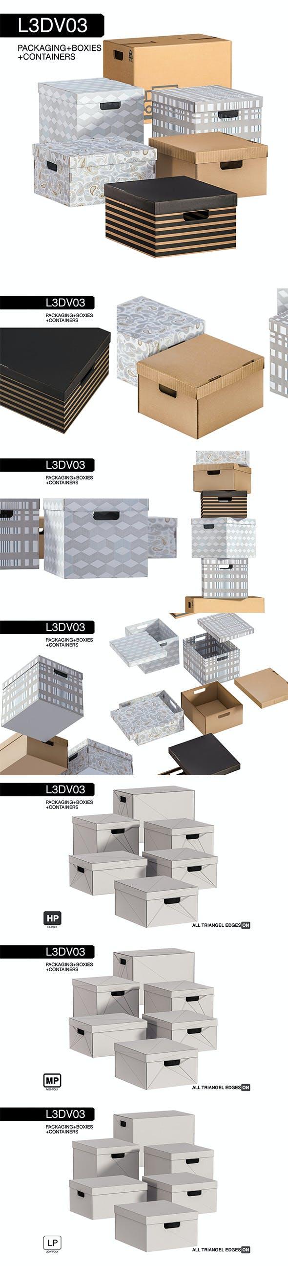 L3DV03G02 - boxes set - 3DOcean Item for Sale
