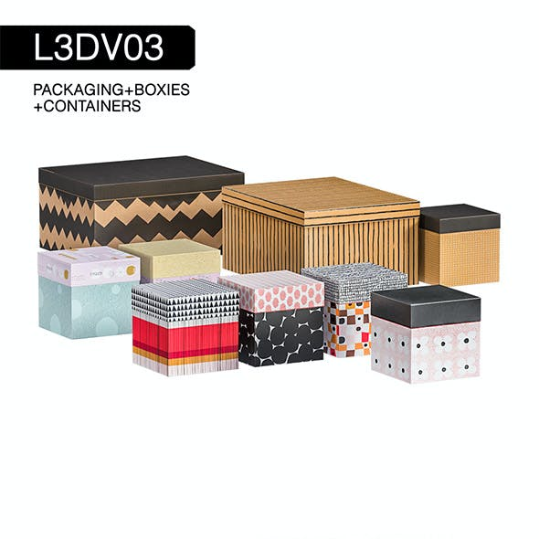 L3DV03G04 - boxes set with 3 polygonal levels