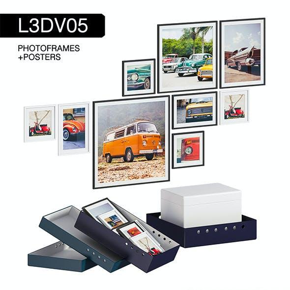 L3DV05G04 - photo frames boxes set