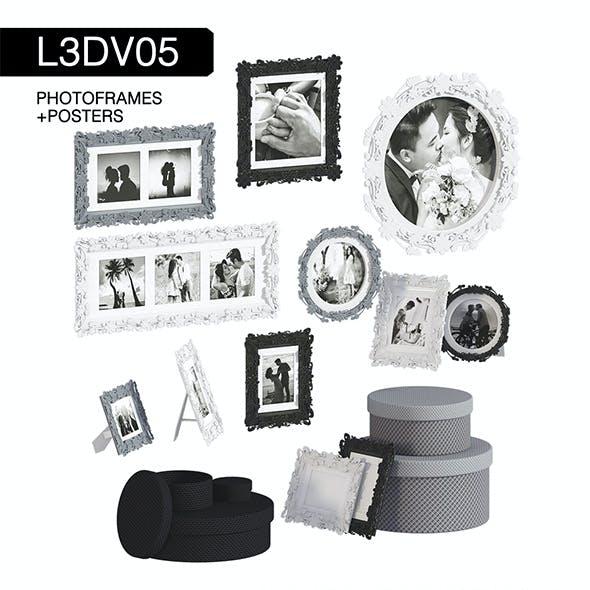 L3DV05G05 - photo frames boxes set