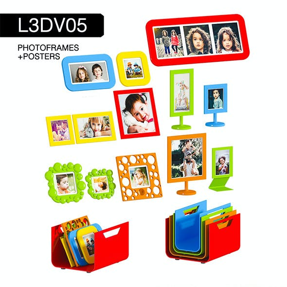 L3DV05G06 - photo frames holders set
