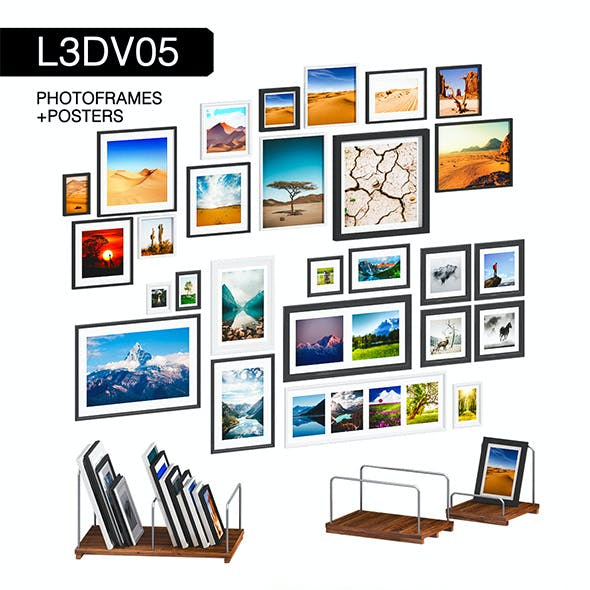 L3DV05G07 - photo frames holders set