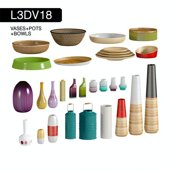 L3DV18G02 - vases bowls set