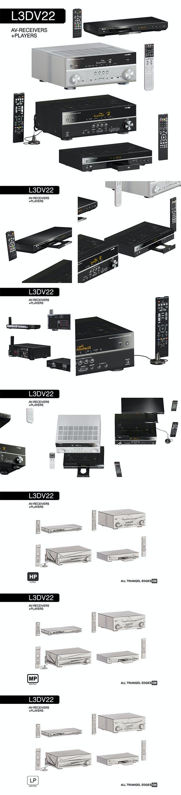 L3DV22G01 - av-receivers players rcs set - 3DOcean Item for Sale