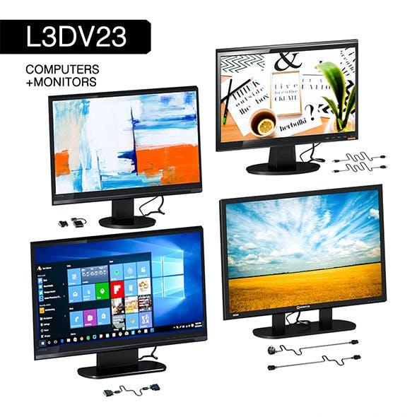 L3DV23G02 - computer monitors set