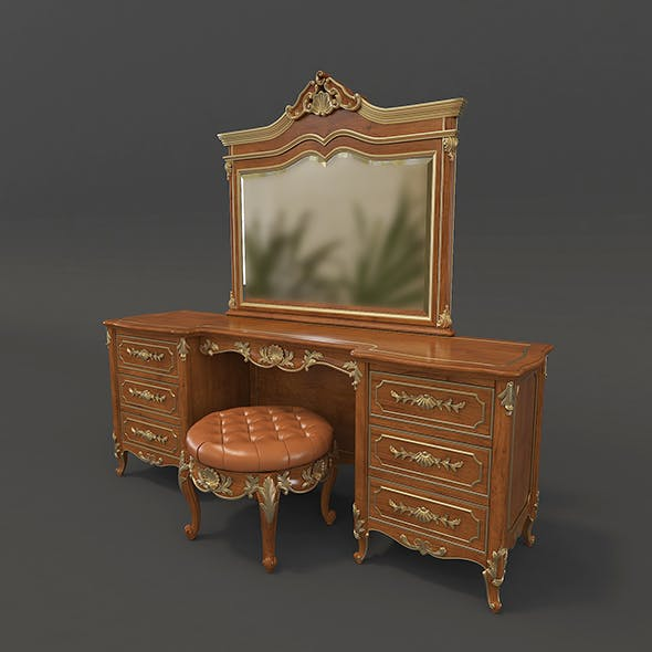 European Style Dressing Table - 3DOcean Item for Sale