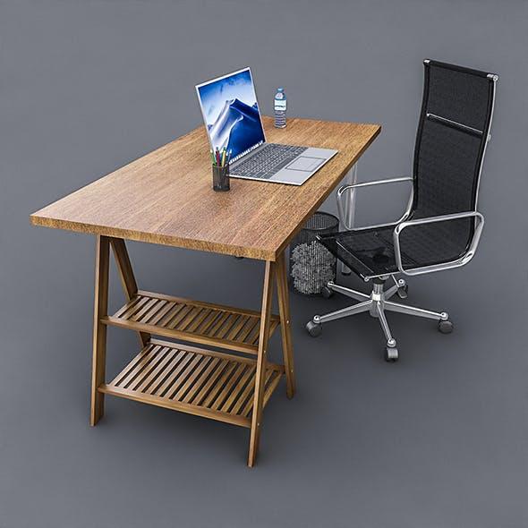 3D Study Desk