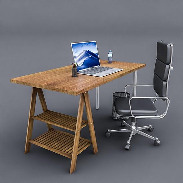 3D Study Desk 02