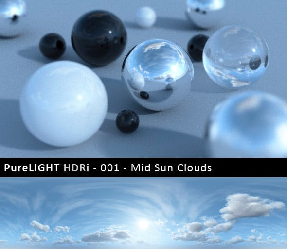 PureLIGHT HDRi 001 - Mid Sun Clouds - 3DOcean Item for Sale