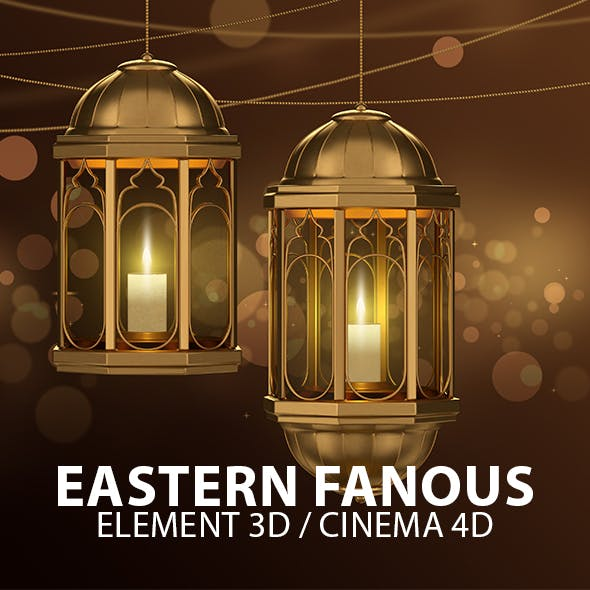 Eastern Lantern Fanous for Element 3D