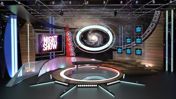 Virtual TV Studio Talkshow 1 - 3DOcean Item for Sale