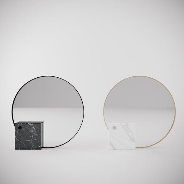 Mirror marble cube