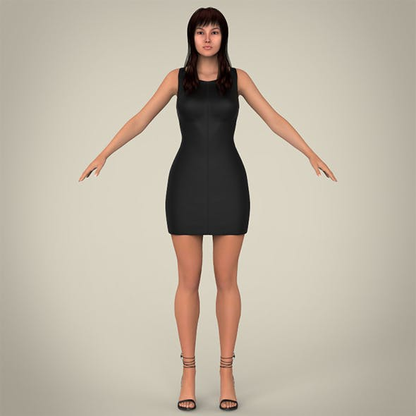 Realistic Young Pretty Lady - 3DOcean Item for Sale