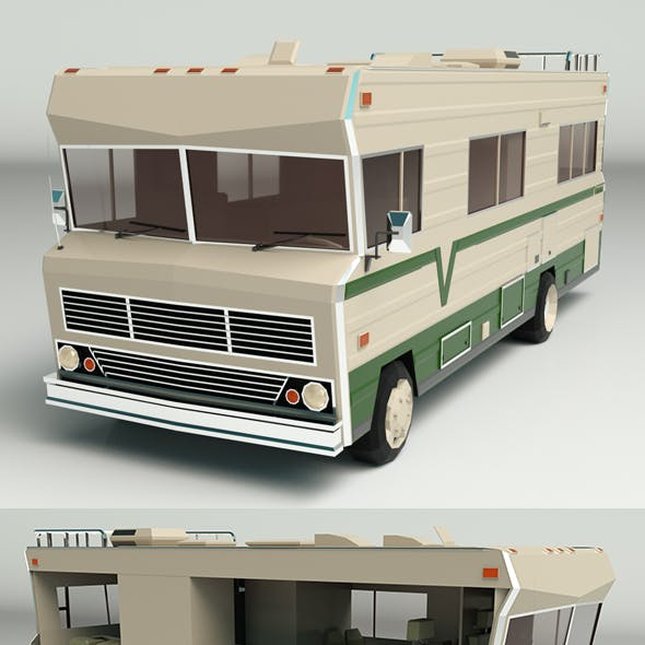 Low Poly Motorhome 03