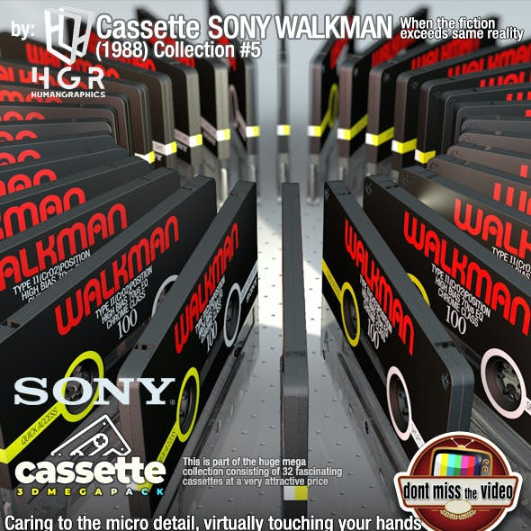 Cassette Sony Walkman (1989) Collection #5