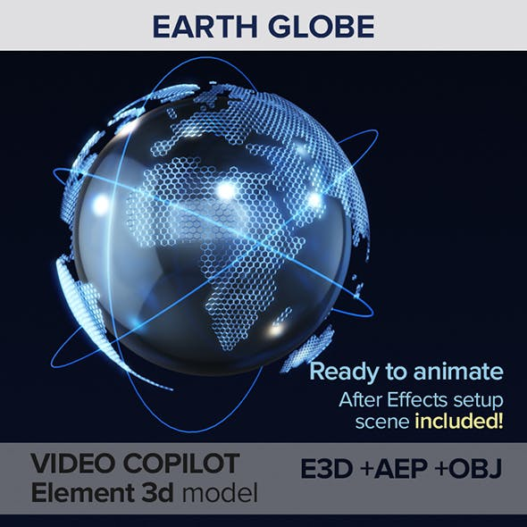 Earth Globe Abstract