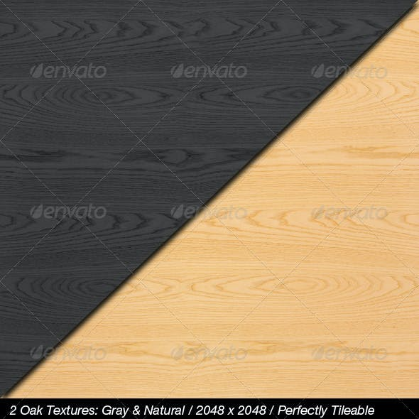 2 High Quality Oak Textures with Bump & Specular