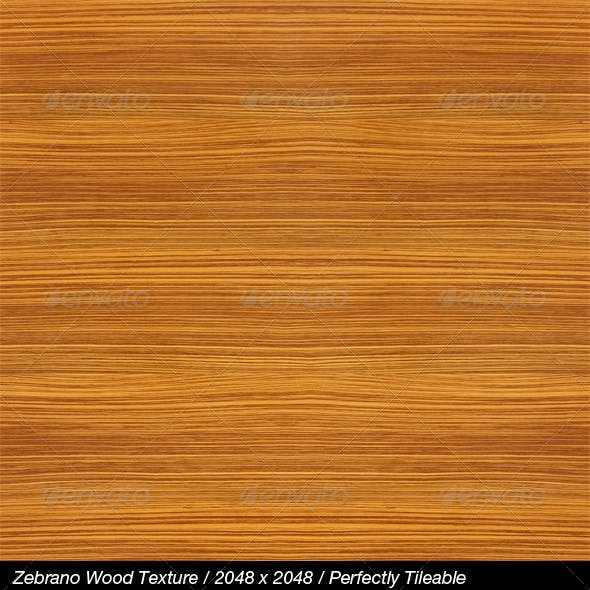 HQ Zebrano Wood with Bump & Specular Maps