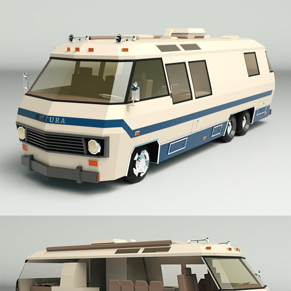 Low Poly Motorhome 04