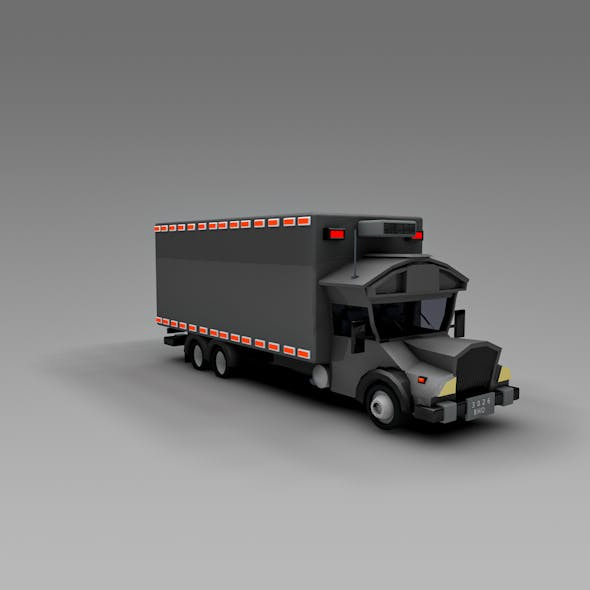 Low Poly Truck Refrigerator