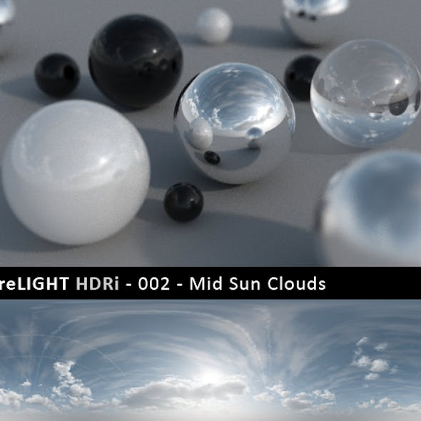PureLIGHT HDRi 002 - Mid Sun Clouds