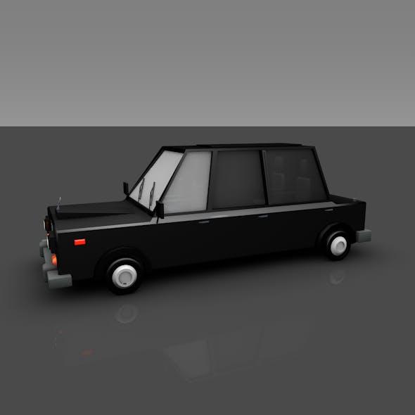 Car Rolls Royce Low-poly
