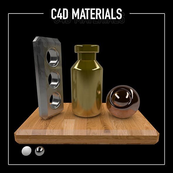 C4D - Gold, Stainless & Copper Material